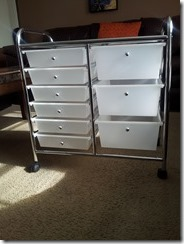 Recollections 9-drawer rolling cart